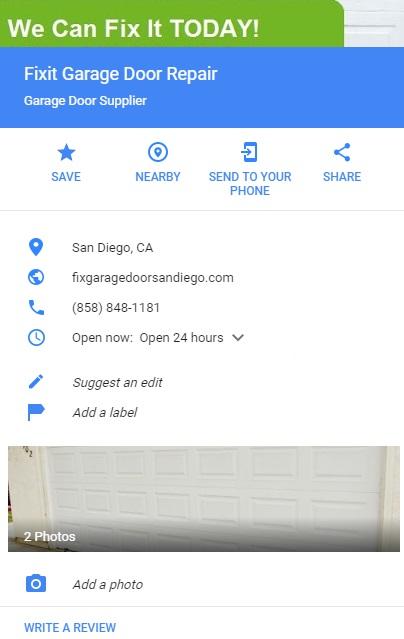 about fixit garage door repair